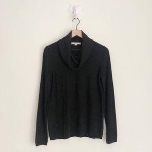 LOFT Black Turtleneck Sweater Size Medium